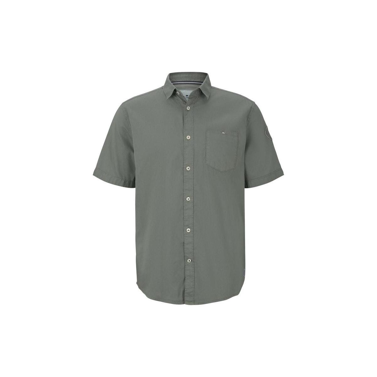 fijn shirt met korte mouwen 1019632xx10 tom tailor overhemd 13182