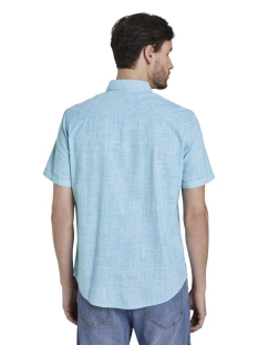 fijn shirt met korte mouwen 1017782xx10 tom tailor overhemd 22274