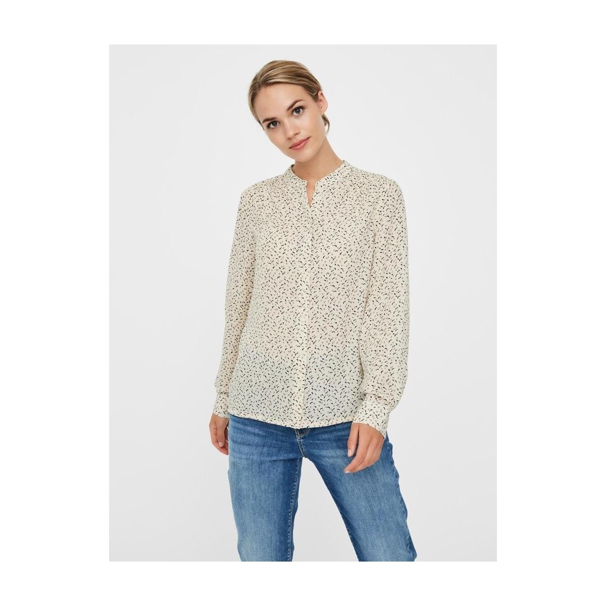 vmkanya ls shirt vma 10226731 vero moda blouse birch/kanya brow
