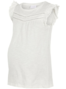 Mama-Licious Positie shirt MLSIANA S/S JERSEY TOP A.V. 20011139 Snow White