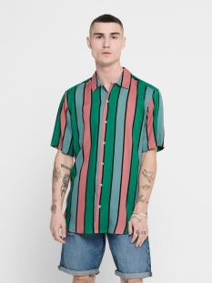 onscarter ss striped viscose shirt 22016179 only & sons overhemd greenlake