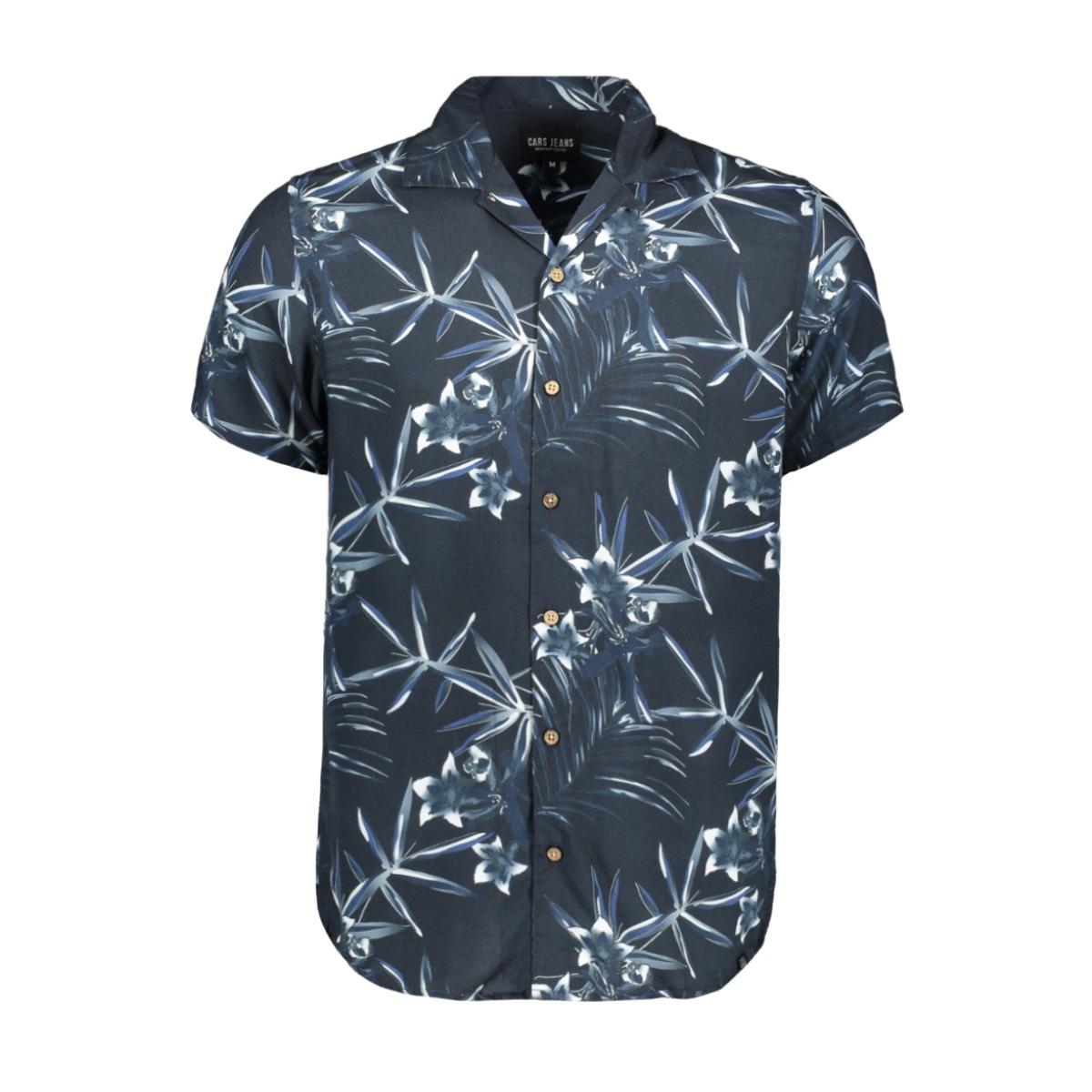 leads shirt print 42170 cars overhemd 12 navy