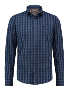 Haze & Finn Overhemd SHIRT COTTON CHECK MU13 0101 INDIGO