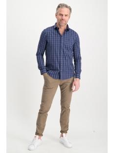 shirt cotton check mu13 0101 haze & finn overhemd indigo