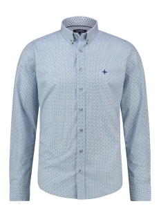 Haze & Finn Overhemd SHIRT AOP REGULAR MC13 0110 02 BLUE ARGYLE