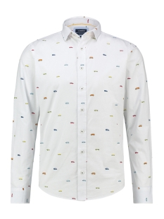 Haze & Finn Overhemd SHIRT AOP STRETCH MC13 0100 13 YOUNGTIMER