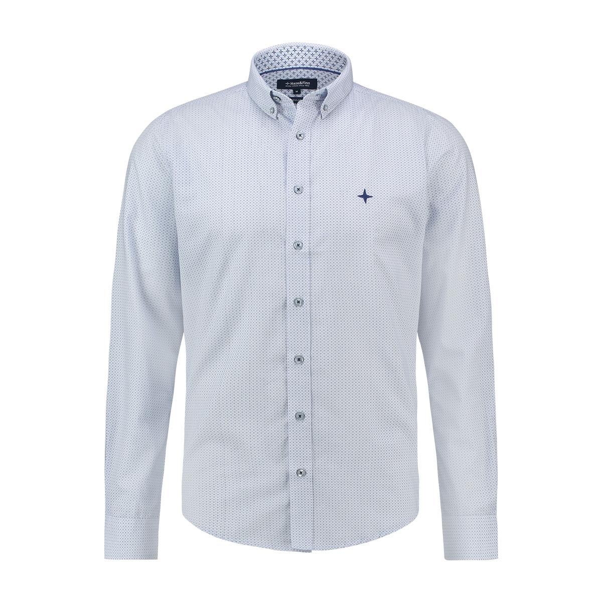 shirt aop regular mc13 0110 04 haze & finn overhemd blue circles