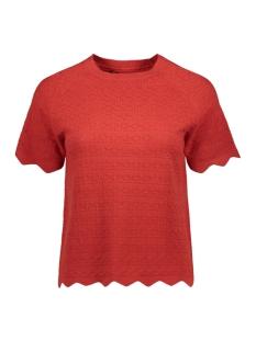 Vero Moda T-shirt VMEKAJA SS O-NECK BLOUSE 10225541 Aurora Red
