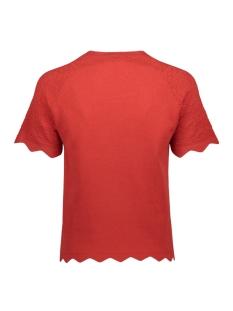 vmekaja ss o-neck blouse 10225541 vero moda t-shirt aurora red