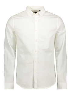 Superdry Overhemd BUTTON DOWN L S SHIRT M4010017A VIDID WHITE
