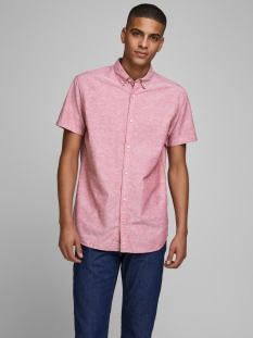 Jack & Jones Overhemd JJESUMMER SHIRT S/S S20 STS 12163857 Rio Red/SLIM FIT