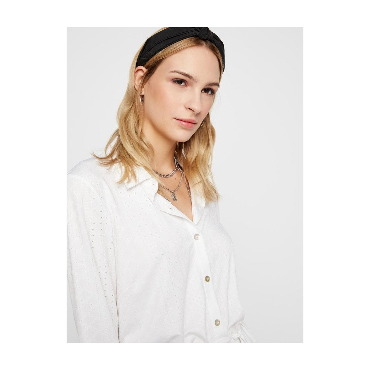 pcnubia ls long shirt 17102377 pieces tuniek bright white
