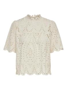 Only T-shirt ONLNYLA LIFE SS ANGLAISE DNM TOP 15201926 Eggnog