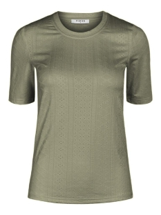 pcnubia 2/4 top 17102380 pieces t-shirt deep lichen green