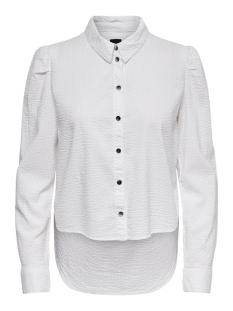 onljezie life rg ls striped dnm shi 15182902 only blouse cloud dancer
