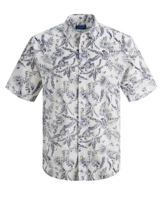 Jack & Jones Overhemd JORELRON SHIRT SS 12170461 Cloud Dancer/SLIM