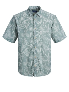 Jack & Jones Overhemd JORELRON SHIRT SS 12170461 Green Milieu/SLIM