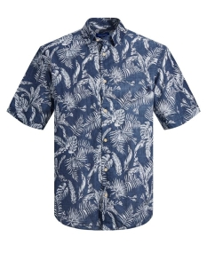 Jack & Jones Overhemd JORELRON SHIRT SS 12170461 Navy Blazer/SLIM