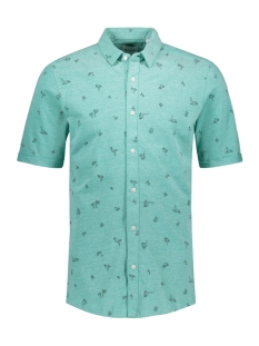 Only & Sons Overhemd onsCUTON SS KNITTED PIQUE AOP SHIRT 22013293 Greenlake