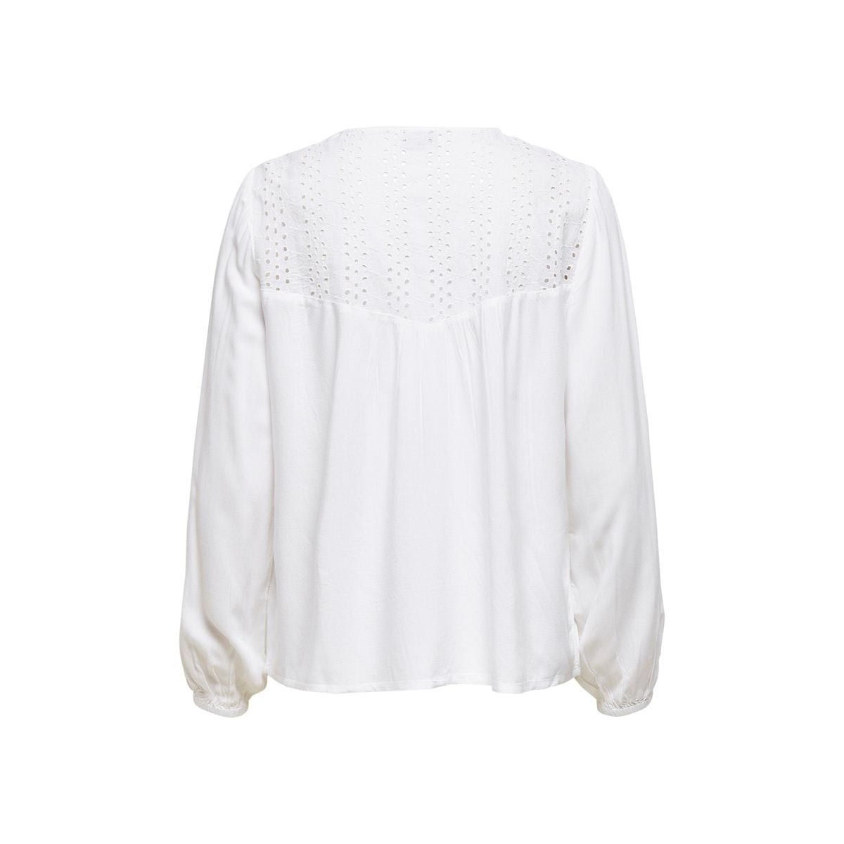 jdytylie l/s emb. blouse wvn 15204504 jacqueline de yong blouse cloud dancer
