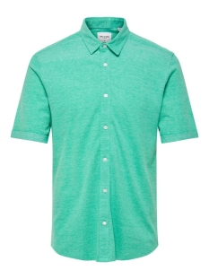 Only & Sons Overhemd onsCUTON SS KNITTED MELANGE SHIRT R 22011833 Greenlake