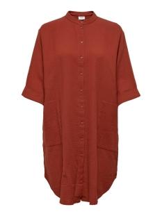 Jacqueline de Yong Blouse JDYTHEIS 3/4 OVERSIZED SHIRT WVN 15204625 RED OCHRE