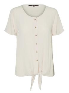Vero Moda T-shirt VMNAOMI TIE FRONT SS SHIRT COLOR 10230181 Snow White