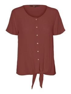 Vero Moda T-shirt VMNAOMI TIE FRONT SS SHIRT COLOR 10230181 Sable