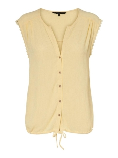 Vero Moda Top VMNAOMI SL LACE SHIRT GA VO 10229395 Pale Banana
