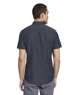shirt met getextureerd patroon 1020040xx10 tom tailor overhemd 22083