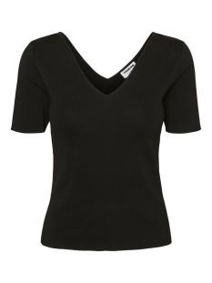 Noisy may T-shirt NMELIAS S/S V-NECK KNIT 27012308 Black