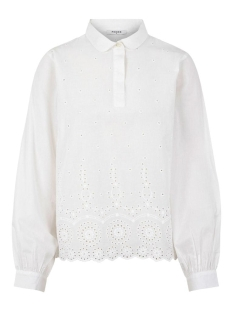 Pieces Blouse PCMARIKA LS SHIRT BC 17104583 Bright White