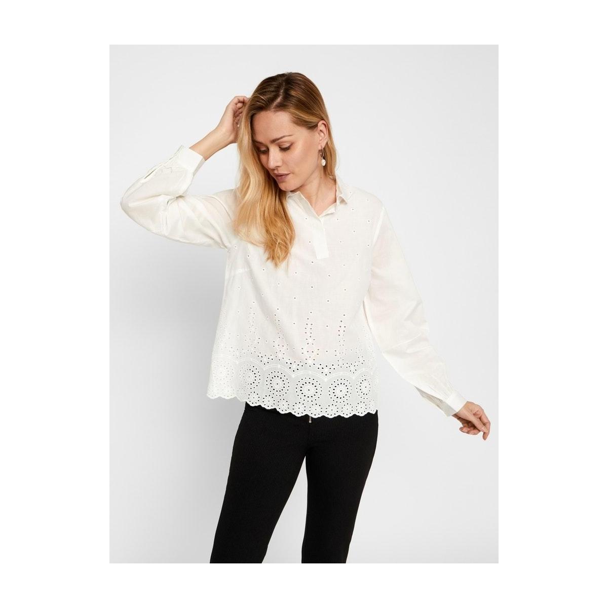 pcmarika ls shirt bc 17104583 pieces blouse bright white