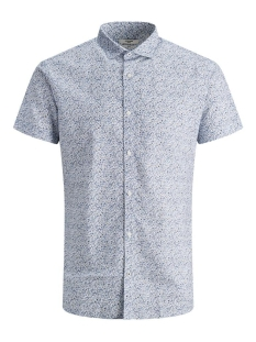 Jack & Jones Overhemd JPRBLASUMMER BLACKBURN SHIRT S/S ST 12170747 WHITE
