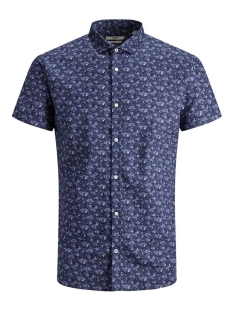 Jack & Jones Overhemd JPRBLASUMMER BLACKBURN SHIRT S/S ST 12170747 NAVY BLAZER