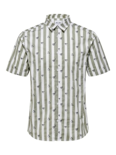 onsargon ss aop stretch shirt 22016636 only & sons overhemd seagrass
