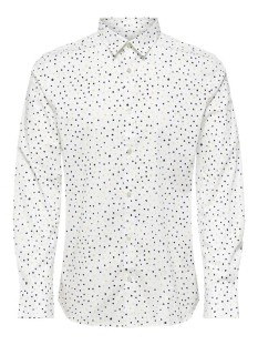 Only & Sons Overhemd ONSARGON LS AOP STRETCH SHIRT 22016635 White