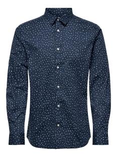 Only & Sons Overhemd ONSARGON LS AOP STRETCH SHIRT 22016635 Dress Blues