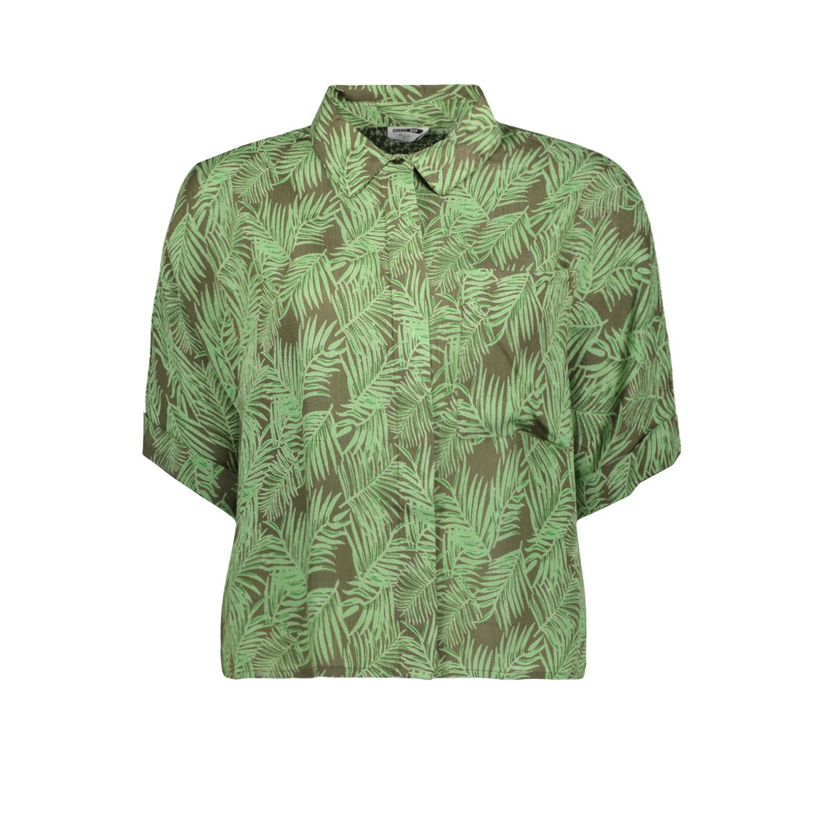 nmflora s/s shirt 27012111 noisy may blouse kalamata/green ash