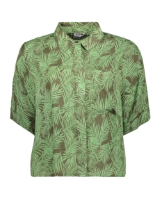 Noisy may Blouse NMFLORA S/S SHIRT 27012111 Kalamata/GREEN ASH