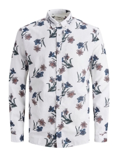 Jack & Jones Overhemd JPRBLASUMMER FLOWER SHIRT L/S BD SU 12170765 WHITE
