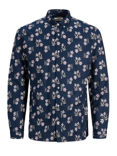 Jack & Jones Overhemd JPRBLASUMMER FLOWER SHIRT L/S BD SU 12170765 NAVY BLAZER
