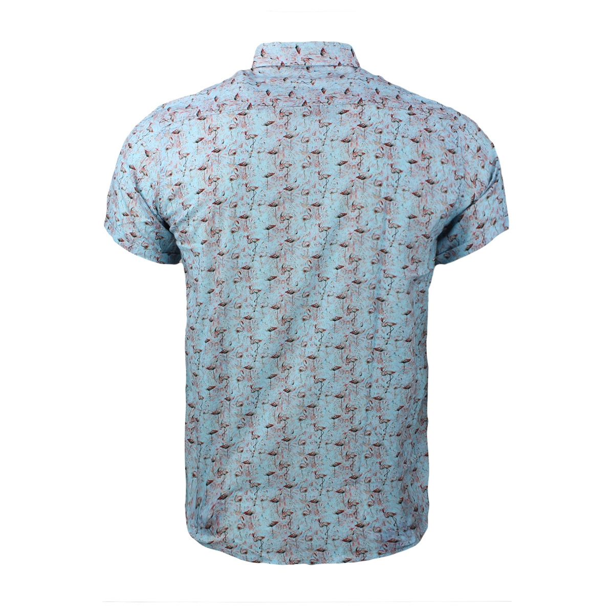 korte mouw hemd 33871 gabbiano overhemd blue