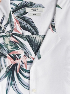 Jack & Jones Overhemd JPRBLAHOLIDAY RESORT SHIRT S/S RELA 12170678 White/SLIM FIT
