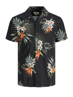 Jack & Jones Overhemd JPRBLAHOLIDAY RESORT SHIRT S/S RELA 12170678 Black/SLIM FIT