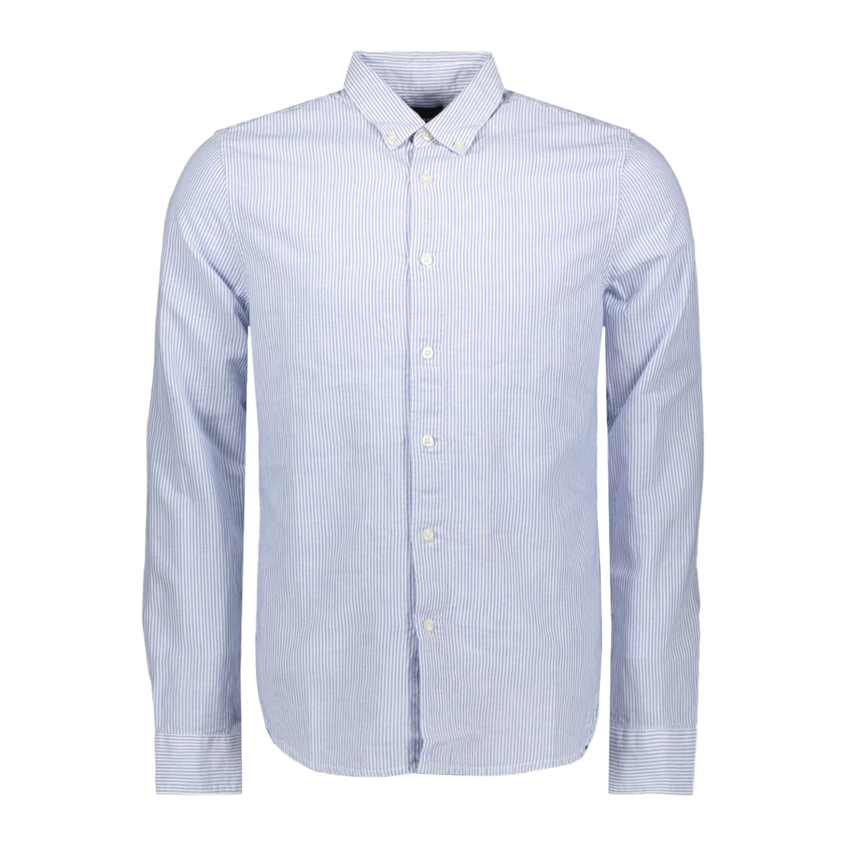 edit linen button down ls shirt m4010017a superdry overhemd blue stripe