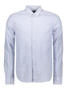 Superdry Overhemd EDIT LINEN BUTTON DOWN LS SHIRT M4010017A BLUE STRIPE