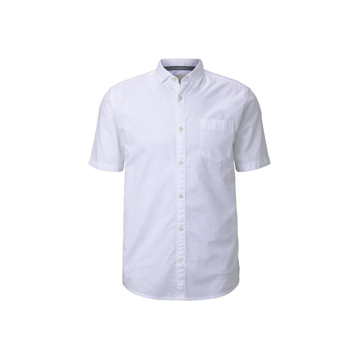 fijn gestructureerd shirt  1020008xx10 tom tailor overhemd 20000