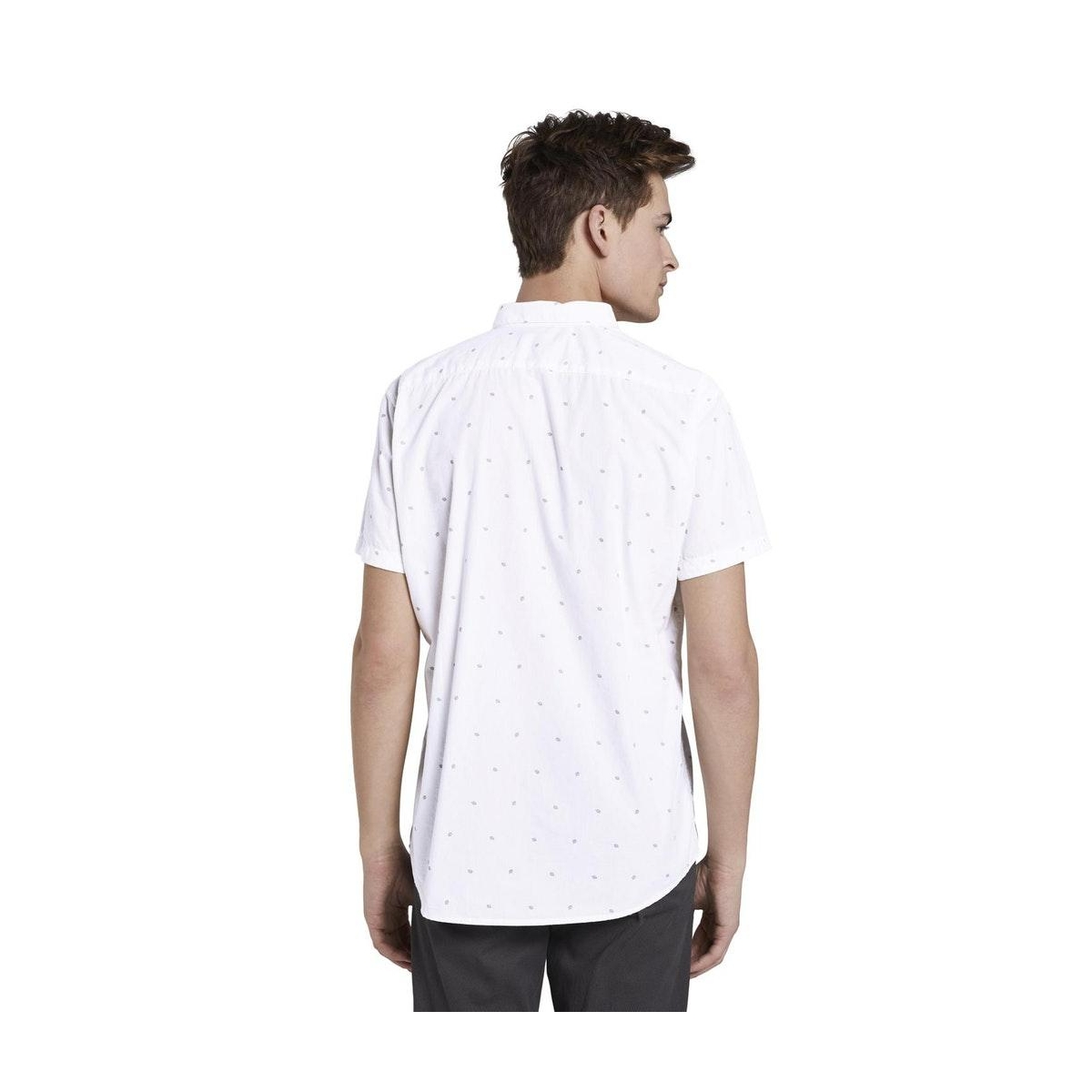 overhemd met korte mouwen 1021164xx12 tom tailor overhemd 22918