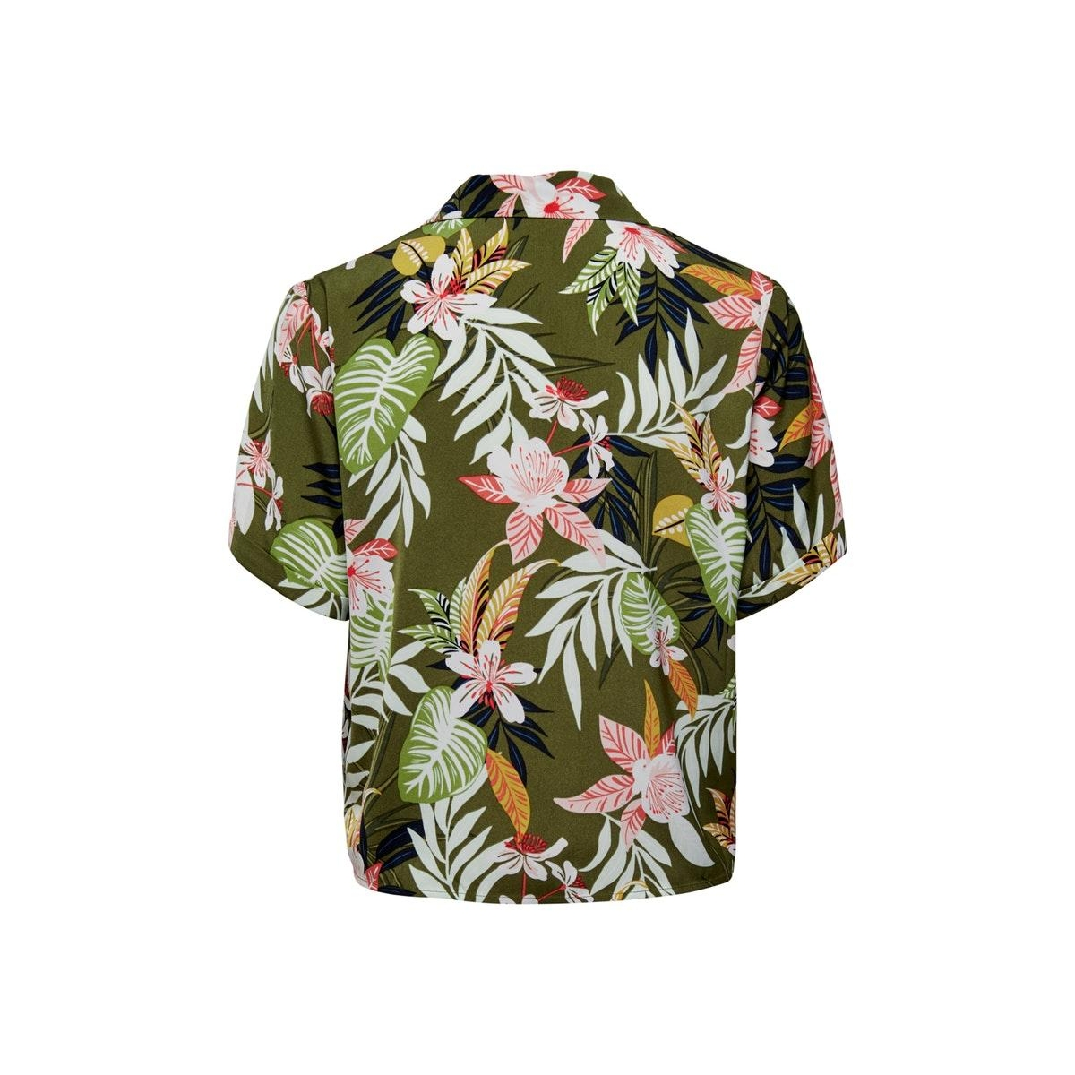onllizbeth s/s bow shirt wvn 15201245 only blouse kalamata/jungle flo